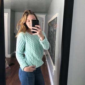 mint chunky sweater